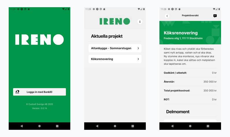 Ireno Client App