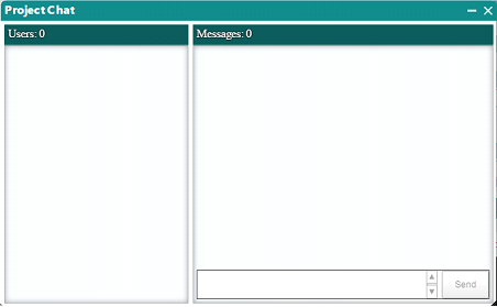 Screenshot of the Integrated Chat System in Dedoose