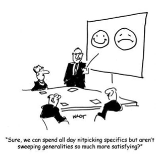 """Sweeping Generalities"" Cartoon"