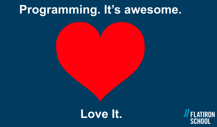 Programming. It's awesome. Love it.  Image