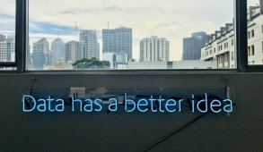 Data Science has a better idea neon lights