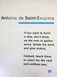 Saint-Exupery quote
