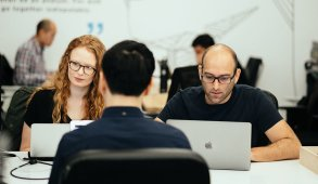 students at Flatiron School cybersecurity bootcamp