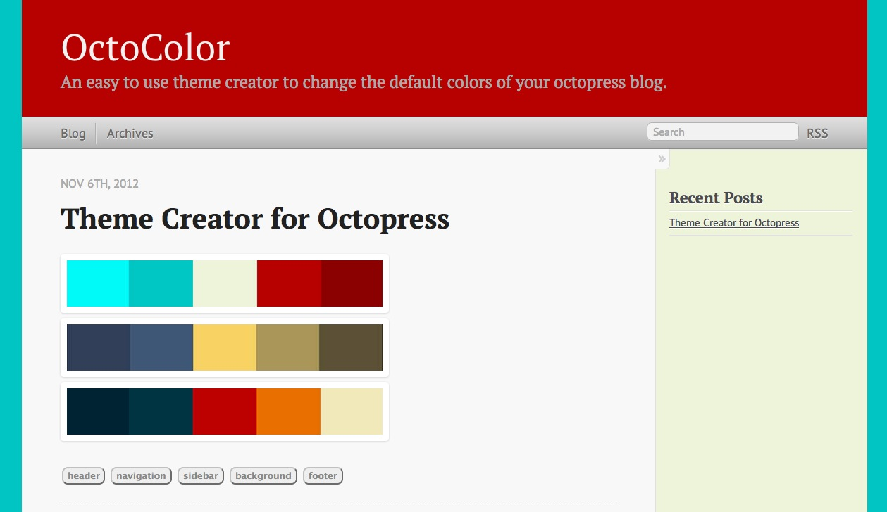 Blog: Theme Octocolor