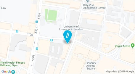 Map of the London campus