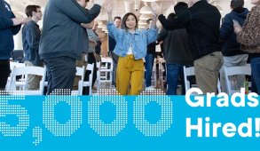 At Flatiron School, we are in the business of helping people change their lives, and then change businesses around the world with their new found tech skills. Read about our 5,000th grad hired.