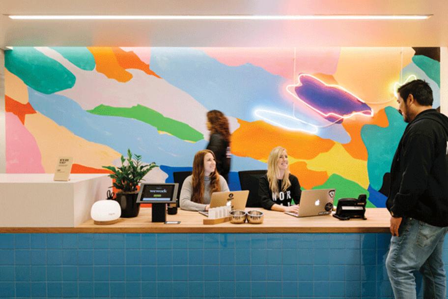 San Fran colorful front desk