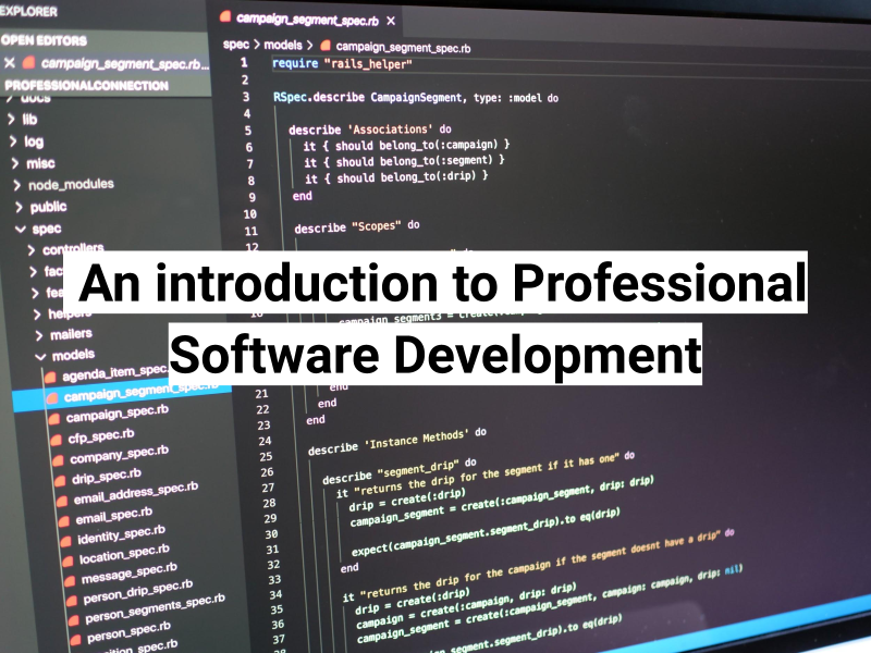 Intro to pro software dev