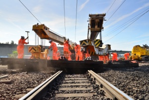 Workfast Rail labourers working on track