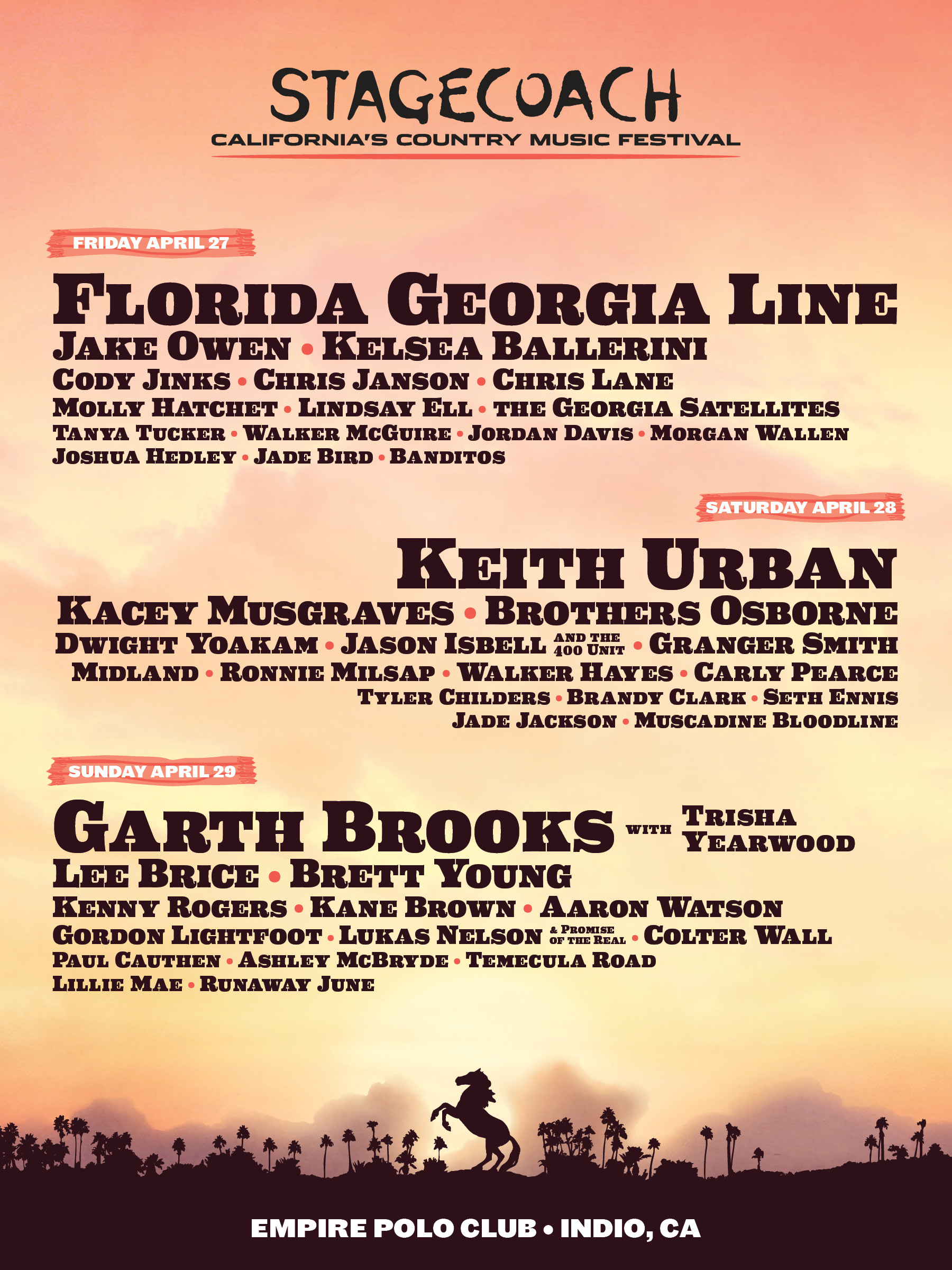 CONCERTS COUNTRY EN EUROPE - Page 4 Stagecoach_2018_1800x2400_v3