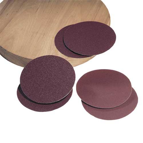 8 in. 50 Grit 2 Pc. Aluminum Oxide Stick-on Discs