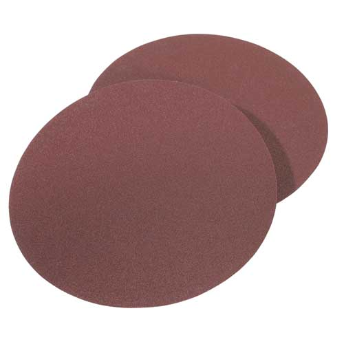 8 in. 120 Grit 2 Pc. Aluminum Oxide Stick-On Discs