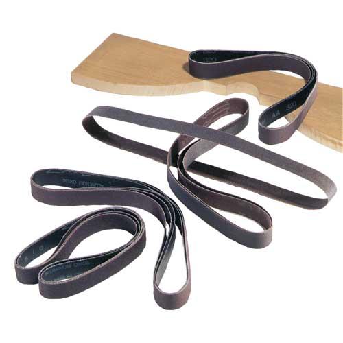 1 in. x 42 in. 320 Grit 5 Pc. Aluminum Oxide Sanding Belts