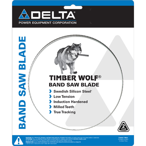 Timber Wolf® Band Saw Blade: 93 1/2 in. x 3/4 in. x 3 TPI AS-S Series