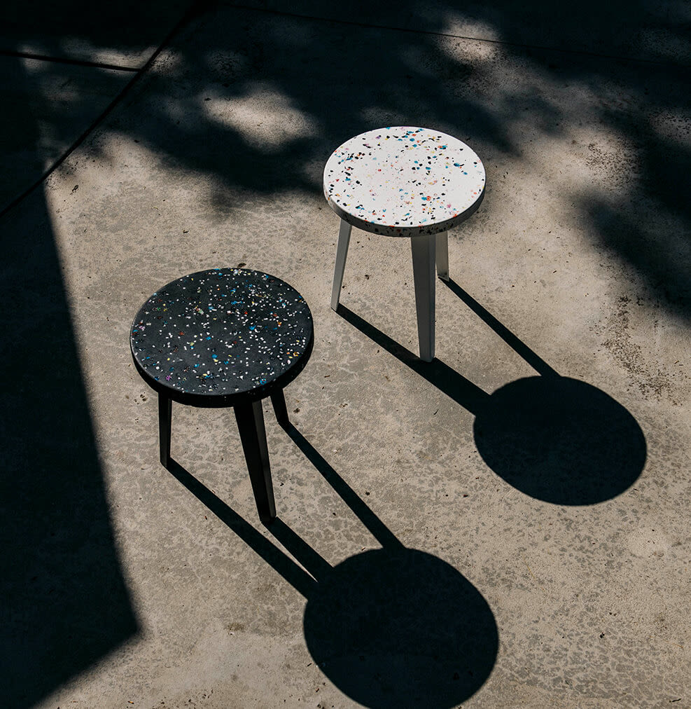 2 Thing Thing Tables on Cement