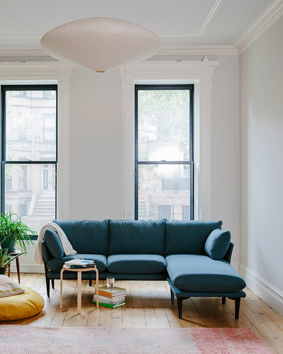 The Floyd Sofa in a small NYC apartment.