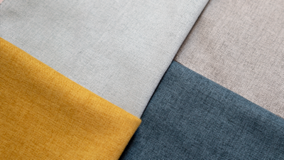 A close up of the Floyd Sofa swatches. Pictured are four colors.