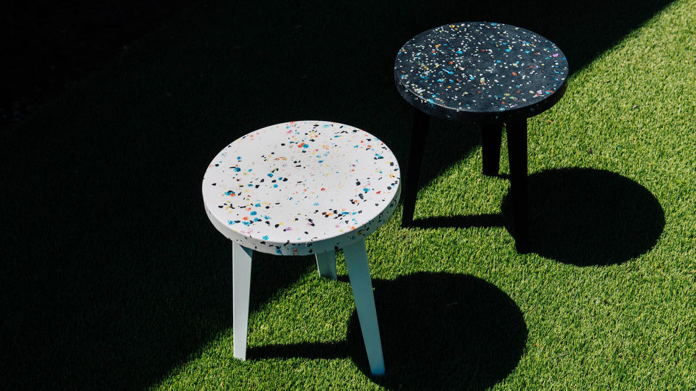 Two Thing Thing Tables on Grass