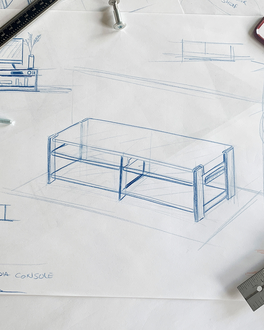Sketch of the media console