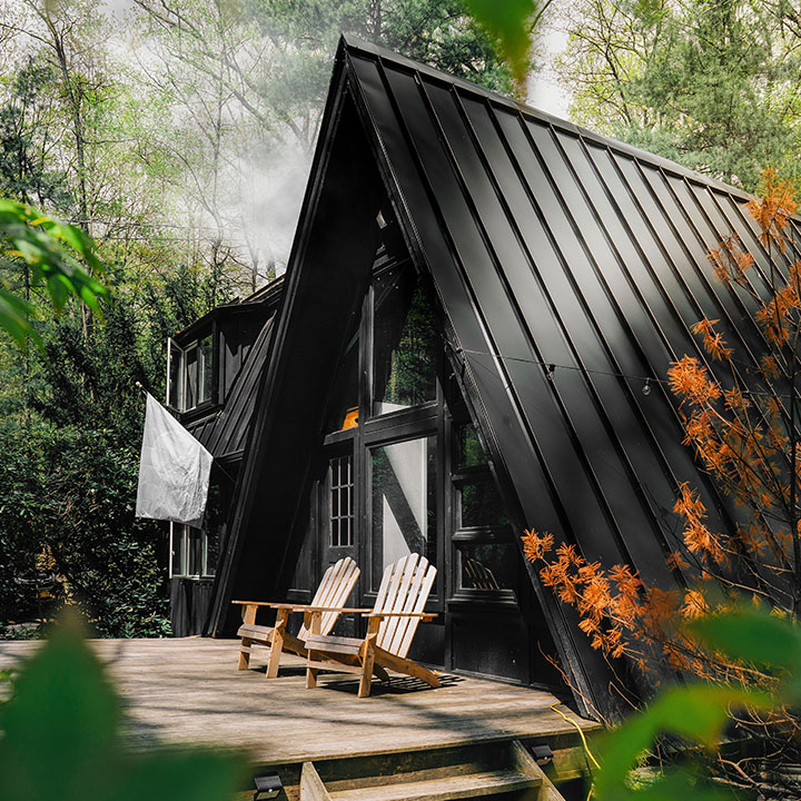 A-Frame in the woods