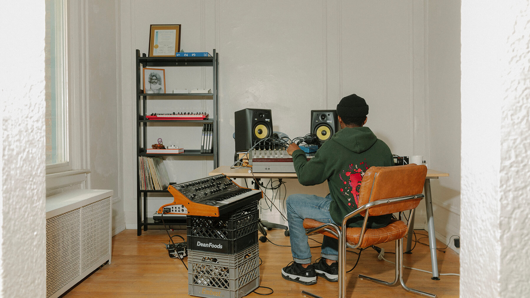 Detroit musician Jay Daniel creates his signature percussive sound with analog equipment.