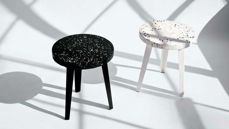Thing Thing Side Tables in Galaxy and Cake