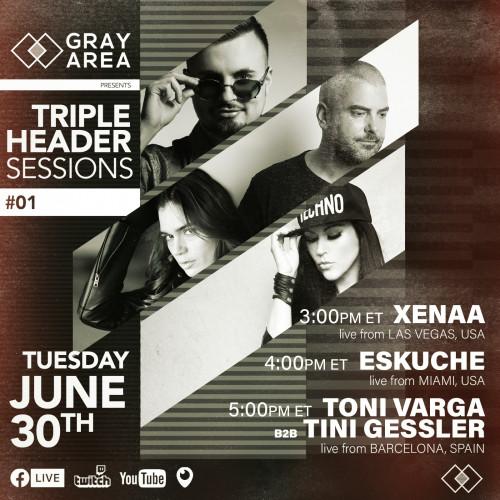 Tripleheader Sessions 001 w/ XENAA, Eskuche, Tini Gessler & Toni Varga