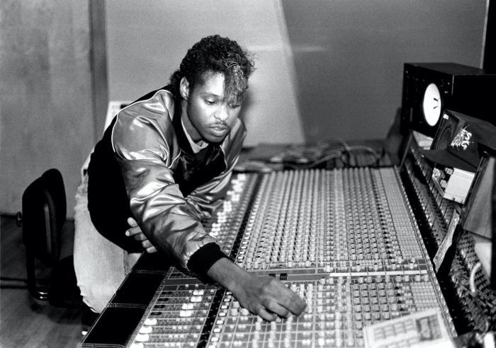 Jesse Saunders in his Chicago studio, January 1987