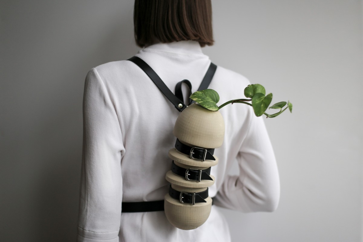 Wearable vase with new leather straps2 photo by Tatiana Illarionova