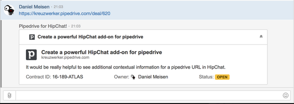 hipchat-pipedrive-card