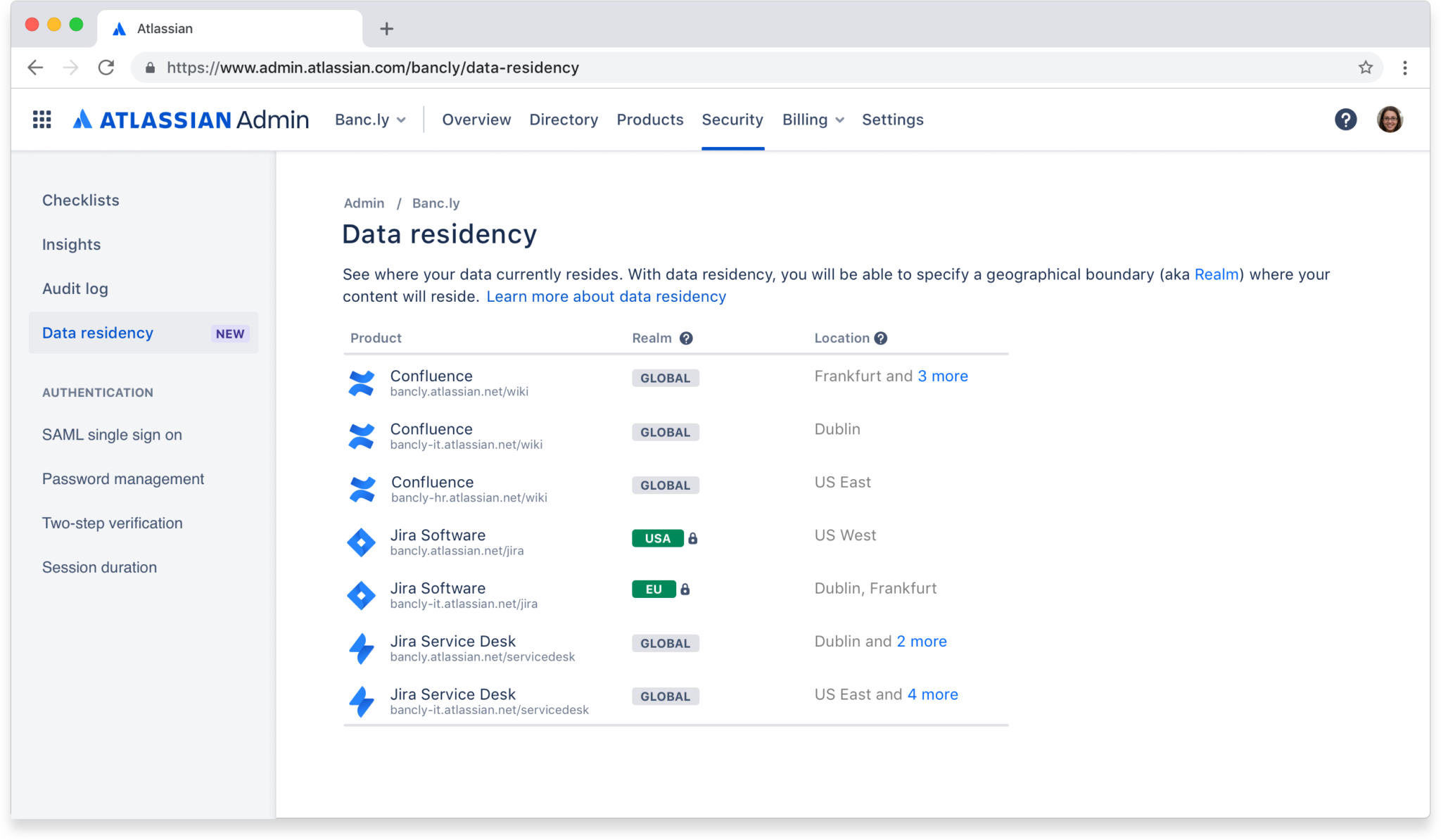 Data-Residency - Atlassian Enterprise Cloud