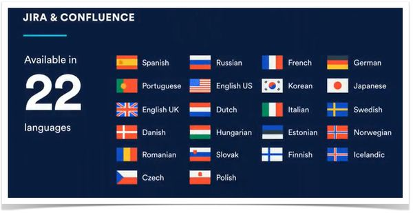 new european languages JIRA Confluence