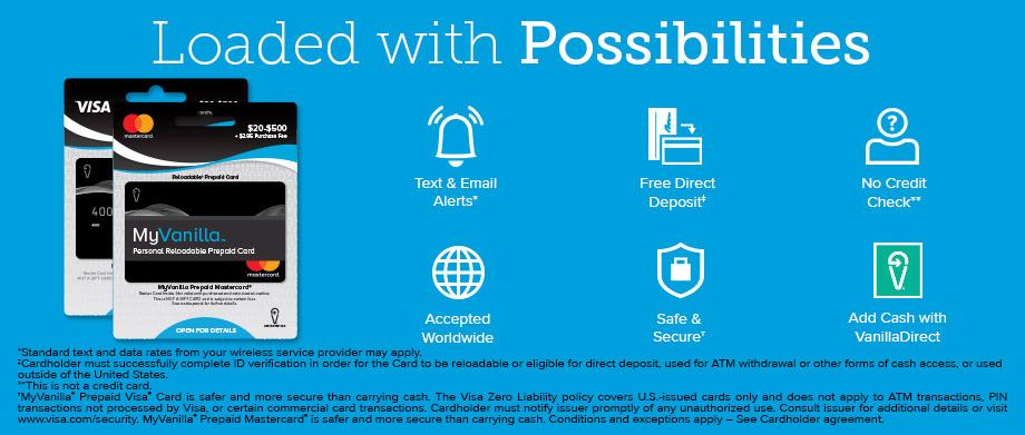 About MyVanilla MyVanilla Reloadable Prepaid Card