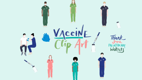Free vaccine clipart blog post