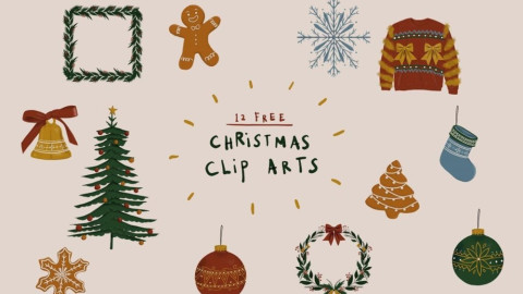 From Ornaments to Snowflakes: Free Christmas Clip Art