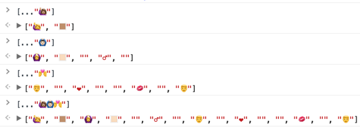 Emoji and the JavaScript Spread Operator