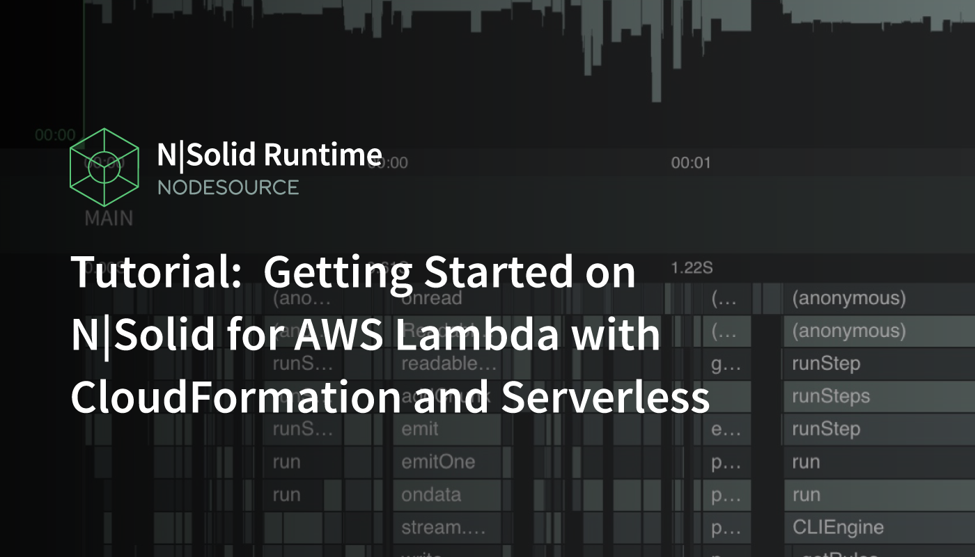 Tutorial: N|Solid for AWS Lambda with CloudFormation and