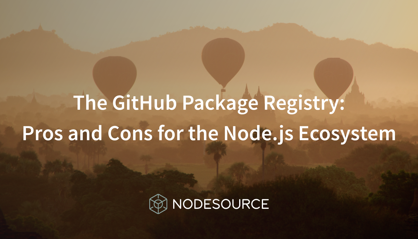 GitHub Package Registry: Pros and Cons for the Node js Ecosystem