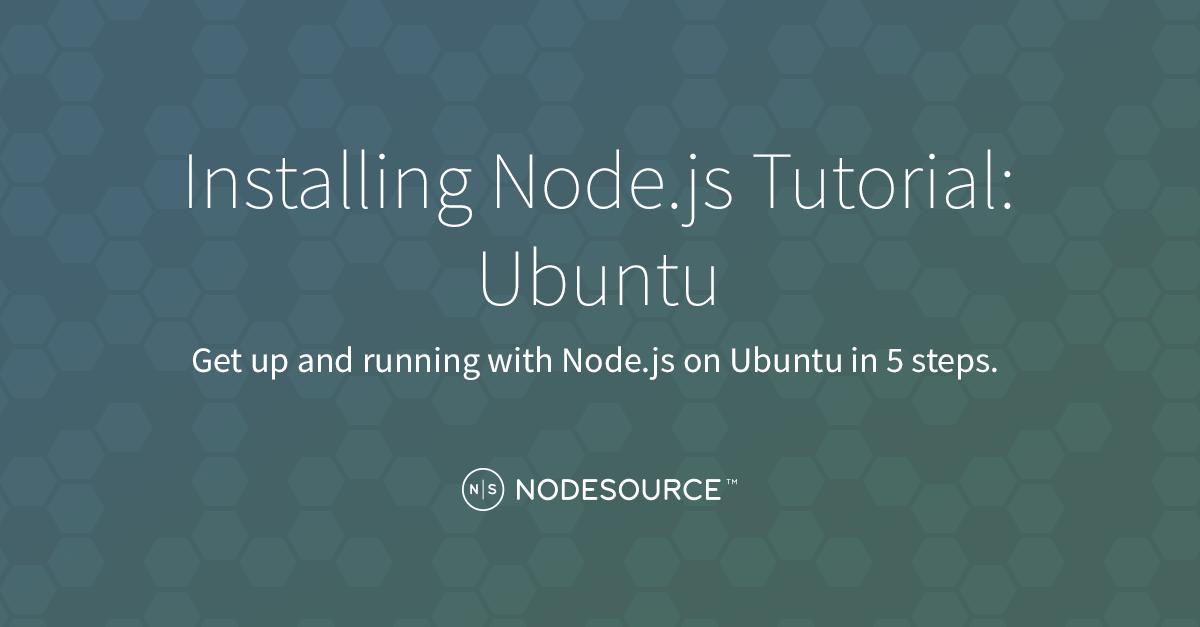ubunto start node js application as process
