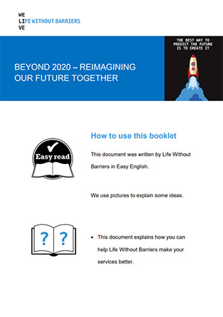 Easy Read - Beyond 2020