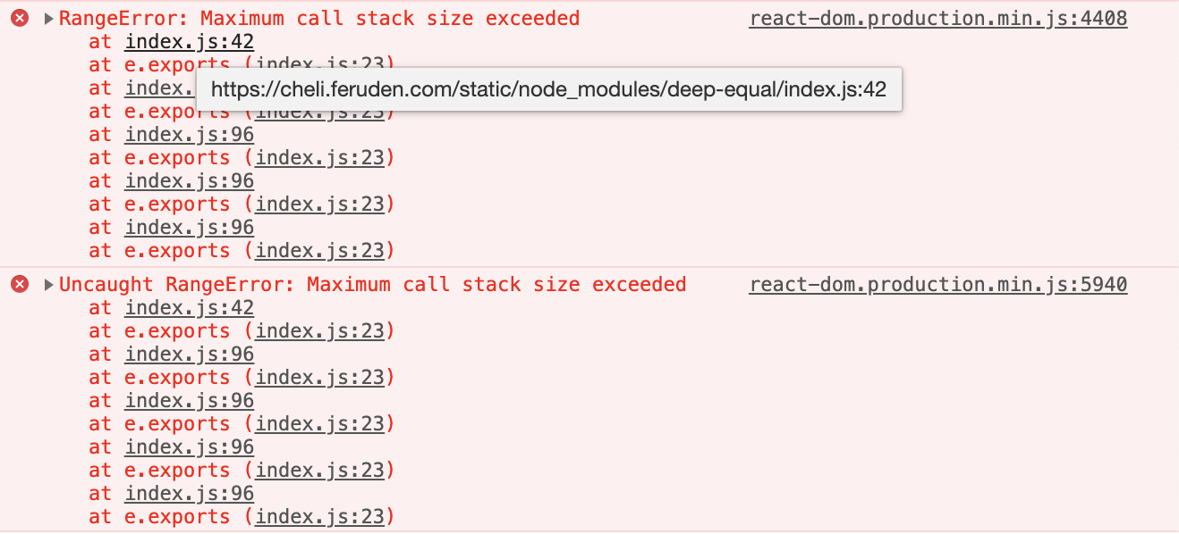 React-helmet Maximum call stack size exceeded 버그 수정