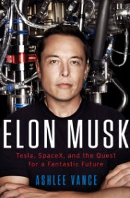 Photo of book cover of Elon Musk