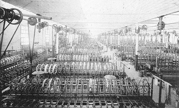 photograph of a large machine in a factory