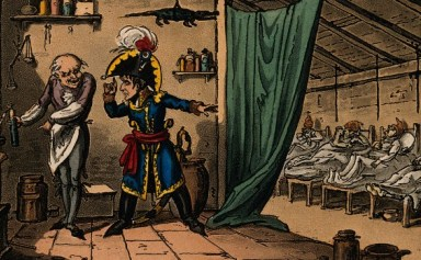 Cruikshank, 'Napoleon Bonaparte instructing the doctor to poison the plague victims', Wellcome Library, London