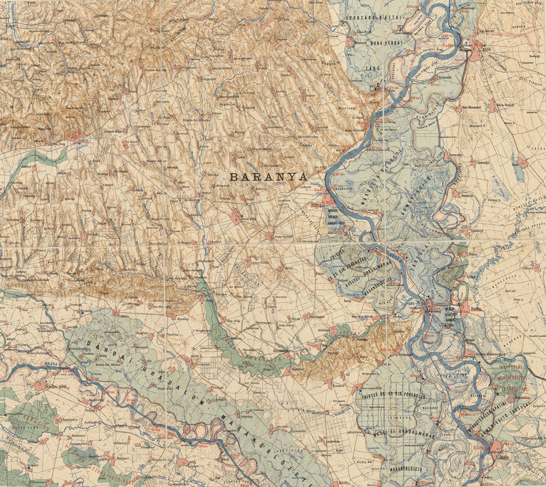Overview Map of the Danube Valley, 1900