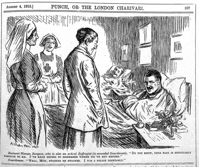Cartoon-woman-surgeon-and-suffragette