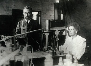 'Marie and Pierre Curie in their laboratory Paris', Wellcome Library, London. Copyrighted work available under Creative Commons by-nc 2.0 UK