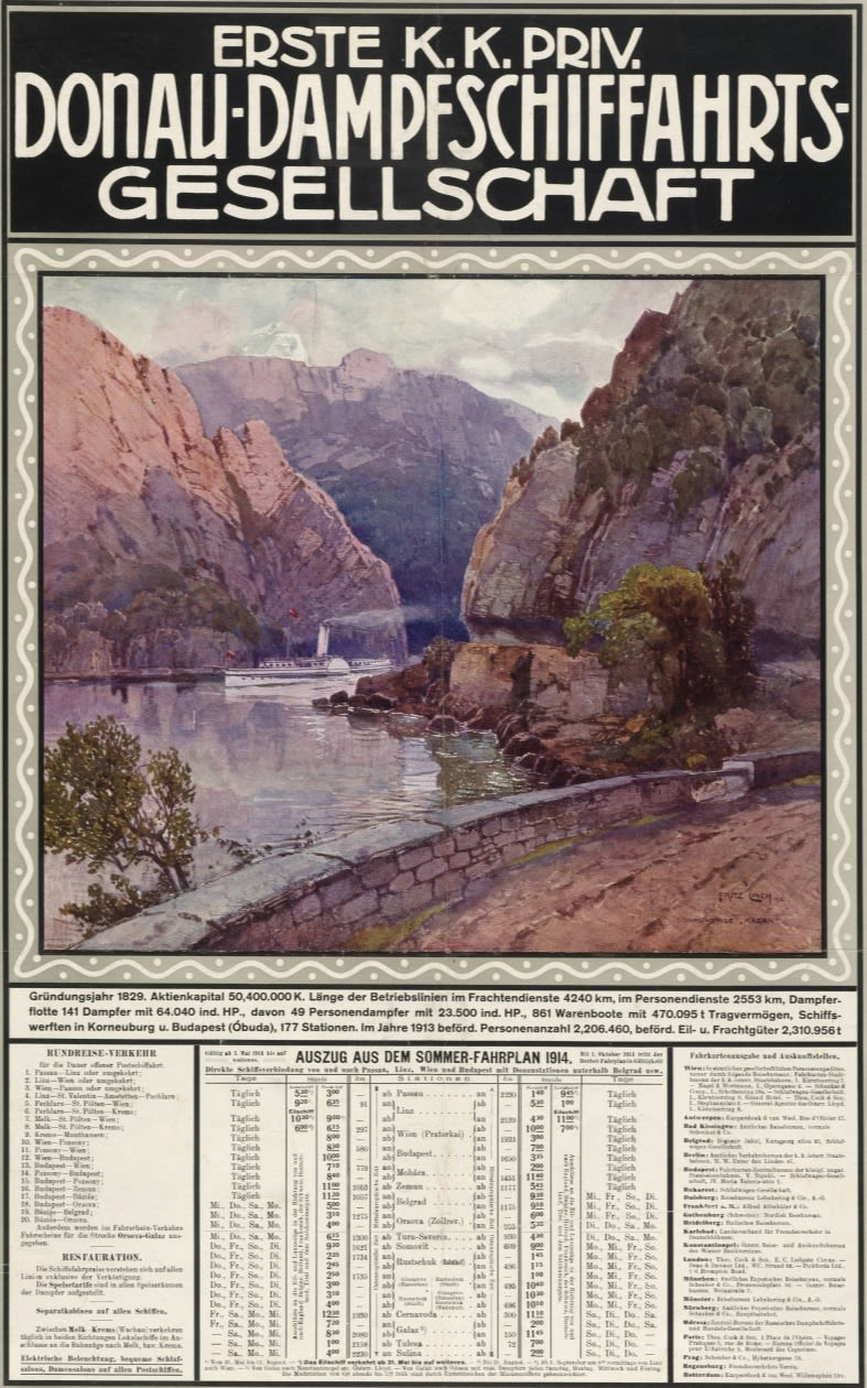 Poster of Danube Steamship Company