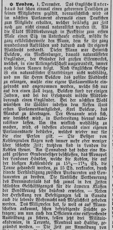 newspaper report in German