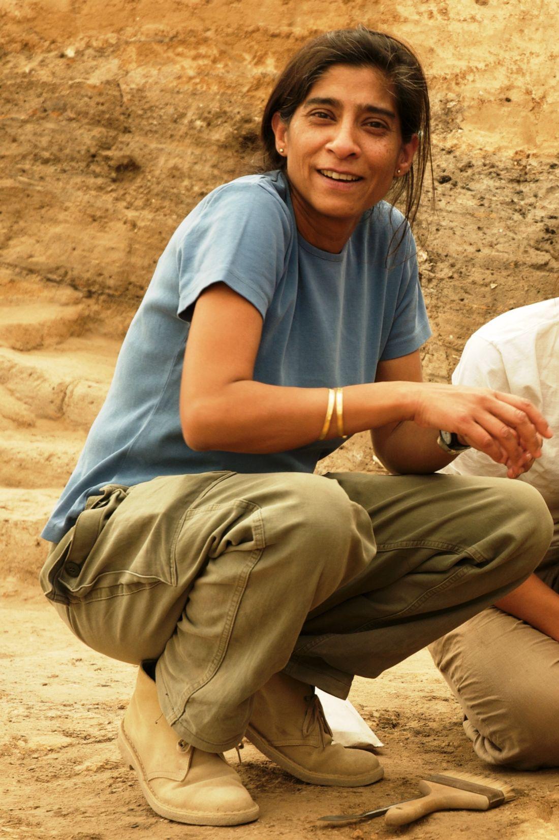 Shahina Farid during excavations